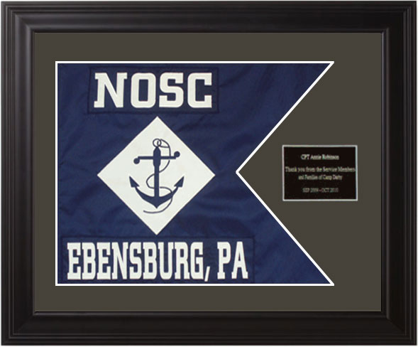 Navy Framed Guidon