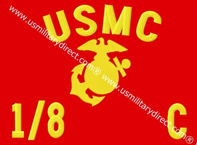 """6""""x8"""" Marine Guidons (Double-sided)"""
