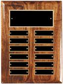 "12 Plate Walnut Perpetual Plaque - 9"" x 12"""