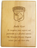 Genuine Red Alder Plaques with Custom Crest