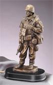"Bronzed 14"" Military Man #2"