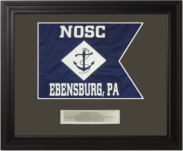 Navy Framed Guidon (Large) Style #1