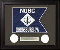 Navy Framed Guidon (Large) Style #4