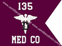 "8""x10""Dental Command Guidon(Single )"