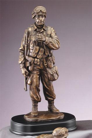 "Bronzed 14"""" Military Man"