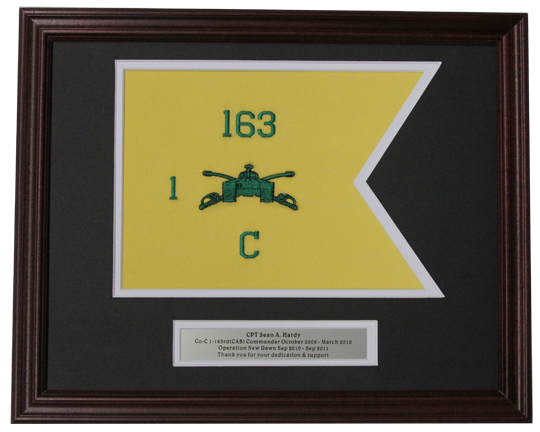 16x20 Framed Guidon