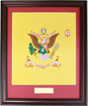 22 X 28 Framed Battalion Colors Style #1