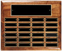 "24 Plate Walnut Perpetual Plaque - 10 1/2""x13"""