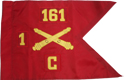 "20""x27.5"" Single Field Artillery Guidon"
