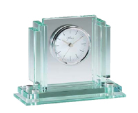 Elegant Glass Desk Clock