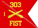 "8""x10""Field Artillery Guidon(Single )"
