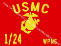 "8""x10"" Marine Guidons (Double-sided)"